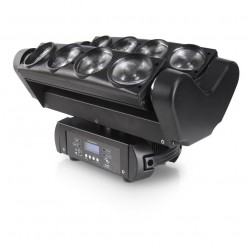 Efekt Led na platformie obrotowej Spyder Moving Head8x10W CREE 4w1