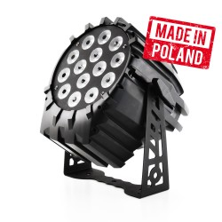 LED PAR 64 14x10W RGBW 4w1, 2 sekcje - produk polski