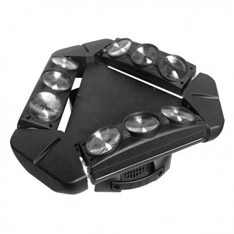 Efekt Led na platformie obrotowej Spyder 3-HEAD 9x10W