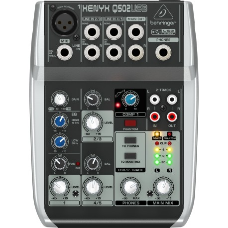 MIKSER AUDIO BEHRINGER XENYX Q502 USB