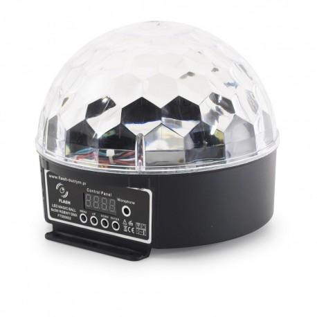 Efekt dyskotekowy KULA LED MAGIC BALL 6x3W RGBWY DMX